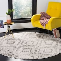 Safavieh Adirondack Vintage Light Grey / Grey Rug (6' x 6' Round)