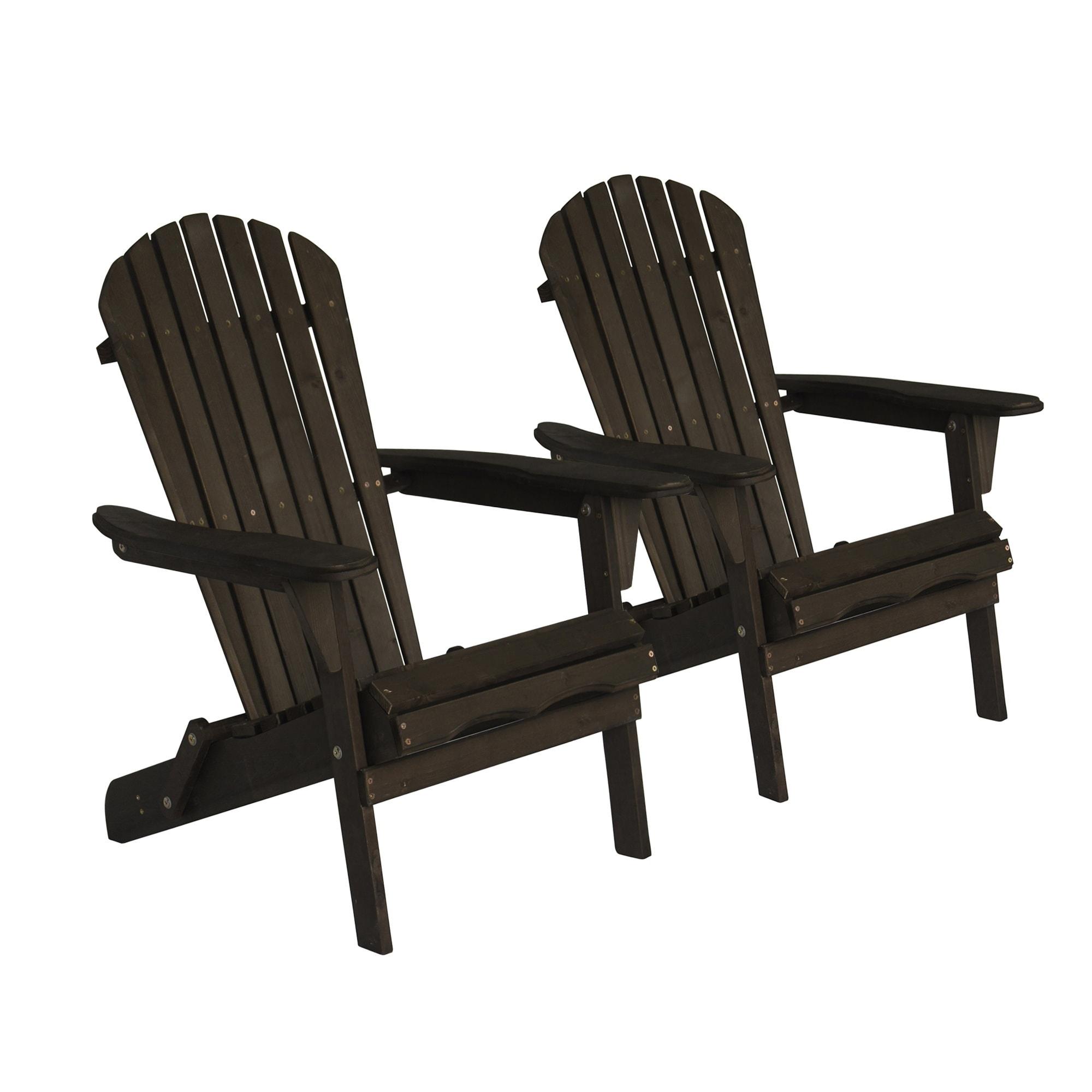 Havenside Home Bergen 2 Piece Foldable Adirondack Chair Set