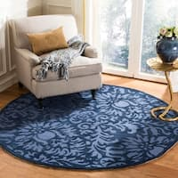 Safavieh Hand-Hooked Total Performance Traditional Navy Rug (6' x 6' Round)