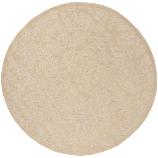 Safavieh Hand-Hooked Total Performance Traditional Ivory Rug (6' x 6' Round)