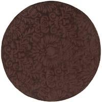 Safavieh Handmade Total Performance Transitional Chocolate Acrylic Rug - 6' x 6' Round