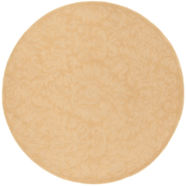 Safavieh Hand-Hooked Total Performance Traditional Beige Rug (6' x 6' Round)