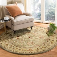 Safavieh Hand-Hooked Total Performance Traditional Sage / Beige Rug (6' x 6' Round)