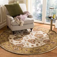 Safavieh Handmade Total Performance Transitional Ivory / Beige Acrylic Rug - 6' x 6' Round