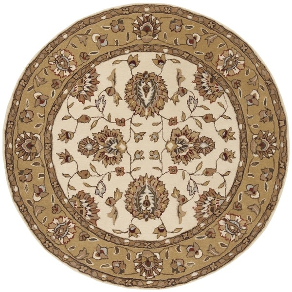 Safavieh Hand-Hooked Total Performance Traditional Ivory / Beige Rug (6' x 6' Round)