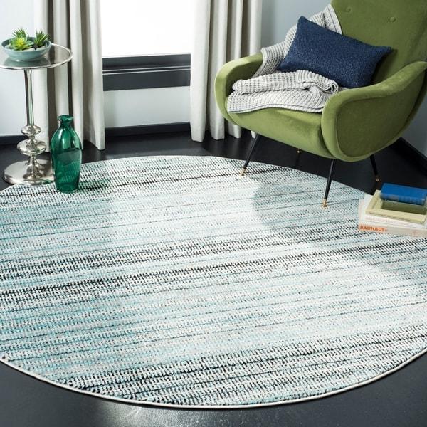 Safavieh Skyler Contemporary Blue / Grey Rug - 6'7' x 6'7' Round