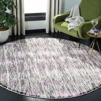 Safavieh Skyler Contemporary Grey / Purple Rug - 6'7' x 6'7' Round