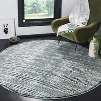 Safavieh Skyler Contemporary Grey / Blue Rug - 6'7' x 6'7' Round
