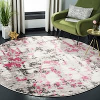 Safavieh Skyler Contemporary Grey / Pink Rug - 6'7' x 6'7' Round