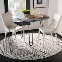 Safavieh Skyler Contemporary Grey / Ivory Rug - 6'7' x 6'7' Round
