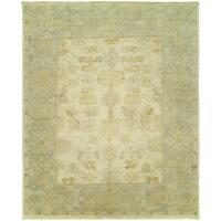 Karaman Ivory/Twilight/Yellow Wool Handmade Area Rug (8' x 10')