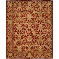 Royal Manner Estates Antique Red Hand-Knotted Area Rug (8' x 10') - 8' x 10'