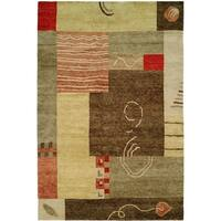 Jade Multiple Color Earth Tones Hand-Knotted Area Rug (8' x 10')