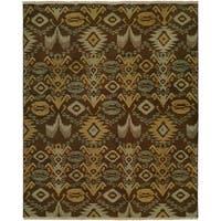 Caspian Soumak Multicolored Wool Handmade Area Rug - 9' x 12'
