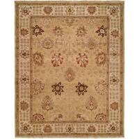 Oushak Handmade Gold/Ivory Wool Area Rug - 8' x 10'