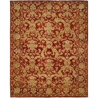 Royal Manner Estates Antique Red Wool Handmade Area Rug - 9' x 12'