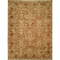 Royal Manner Estates Sandy Brown Hand-Knotted Area Rug (8' x 10') - 8' x 10'