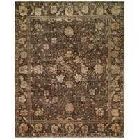 Antalya French Roast Hand-Knotted Area Rug (10' x 14') - 10' x 14'