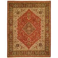 Soumak Rust/Brown Wool Handmade Area Rug - 9' x 12'
