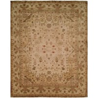 Oushak Earth Tones Hand-Knotted Area Rug - 10' x 14'