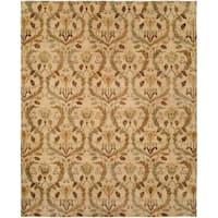 Royal Manner Derbyshire Warm Sand Handmade Area Rug - 10' x 14'