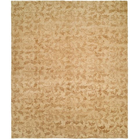 Royal Manner Derbyshire Beige Hand-knotted Area Rug