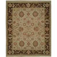 Soumak Light Blue / Brown Hand-Knotted Soumak Area Rug (8' x 10') - 8' x 10'