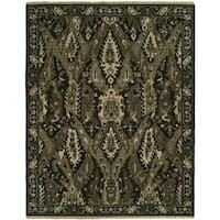 Soumak Natural Onyx Wool Handmade Area Rug - 10' x 14'