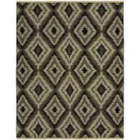 Soumak Natural Pebble Soumak Grey Wool Handmade Area Rug (10' x 14')