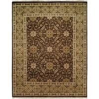 Bashir Brown/Gold Hand-Knotted Area Rug - 3' x 5'