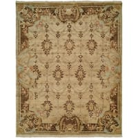 Tuscany Ivory/Brown Wool Handmade Area Rug (9' x 12')