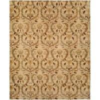 Royal Manner Derbyshire Warm Sand Wool Handmade Area Rug - 4' x 6'