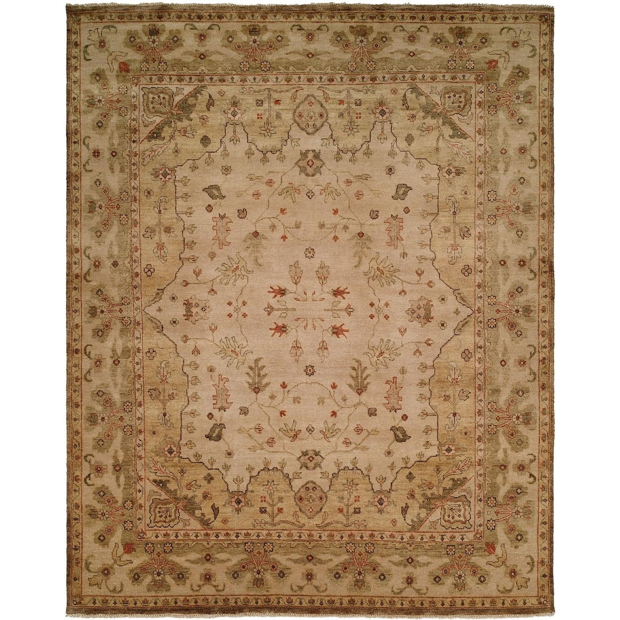 Oushak Earth Tones Hand Knotted Area Rug 4 X 6