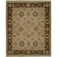 Soumak Light Blue/ Brown Wool Handmade Area Rug - 4' x 6'