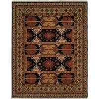 Soumak Earth Tones Hand-Knotted Soumak Area Rug - 10' Round