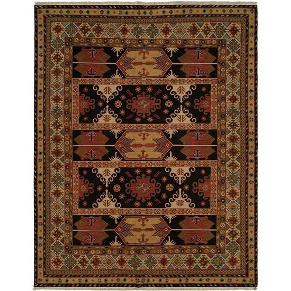 Earth Tones Wool Handmade Soumak Area Rug (10' x 10')
