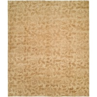 Royal Manner Derbyshire Beige Hand-Knotted Area Rug - 10' Round