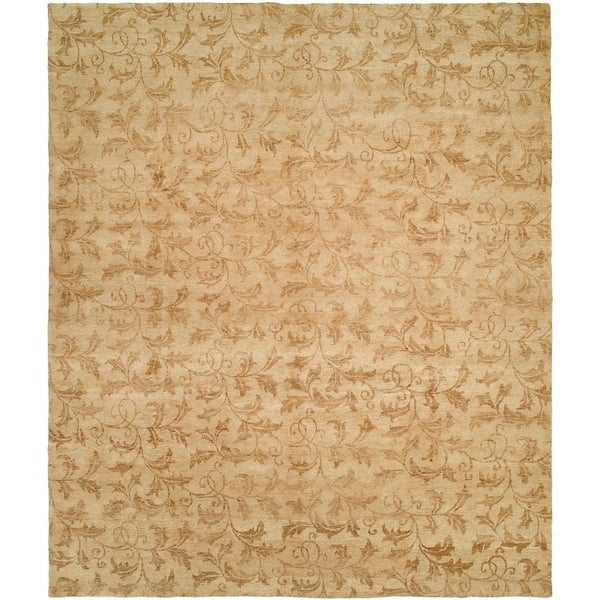 Royal Manner Derbyshire Beige Handmade Area Rug (10' Round)