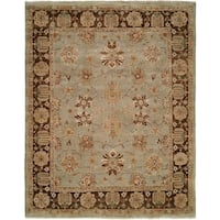 Oushak Red/Red Hand-Knotted Area Rug (6' Round) - 6' Round