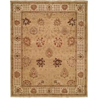Oushak Gold/Ivory Hand-Knotted Area Rug (6' Round) - 6' Round