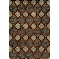 Royal Manner Derbyshire Brown Wool Handmade Formal Area Rug