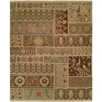 Caspian Multi Color Hand-Knotted Soumak Area Rug - 8' Round