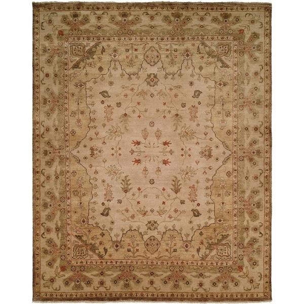 Oushak Earth Tones Handmade Wool Area Rug - 8' Round