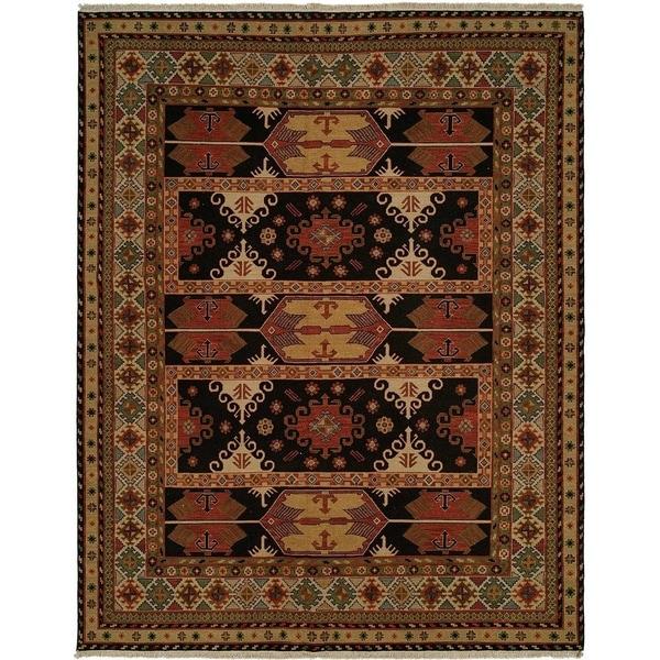 Earth Tones Wool Handmade Soumak Area Rug (6' x 6')