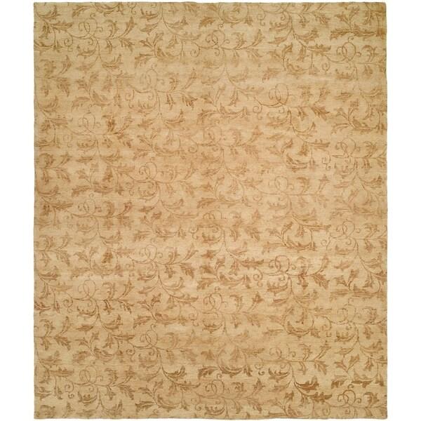 Royal Manner Derbyshire Beige Wool Handmade Round Area Rug (8' x 8')