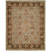 Oushak Red/Red Hand-Knotted Area Rug (10' Square)