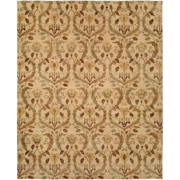 Royal Manner Derbyshire Warm Sand Wool Handmade Area Rug