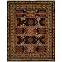 Soumak Earth Tones Hand-Knotted Soumak Area Rug (8' Round) - 8' Round