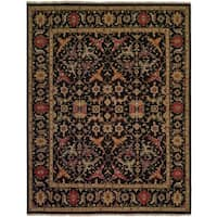 Soumak Black Wool Handmade Traditional Area Rug (10' x 10')