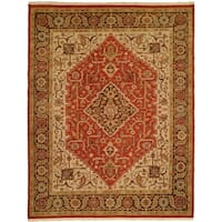 Soumak Rust/Brown Wool/Cotton Handmade Area Rug - 10' Square